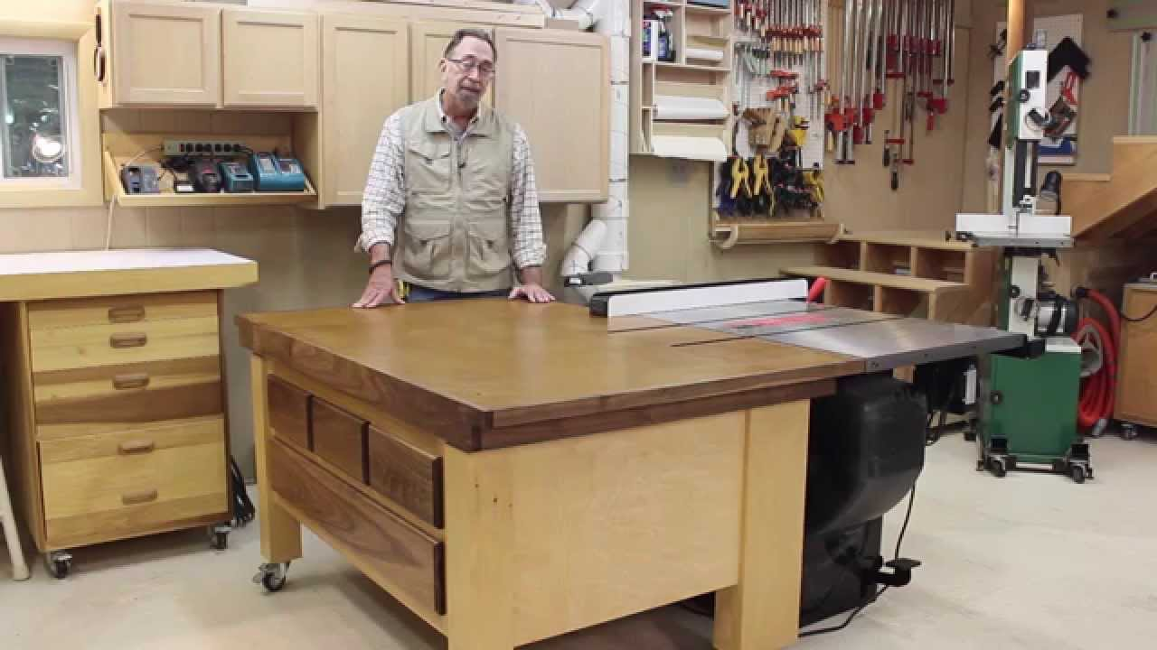 Sawstop Out Feed Table Part 6b Youtube