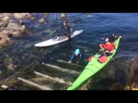 Jill Yoneda getting out of Juan de Fuca
