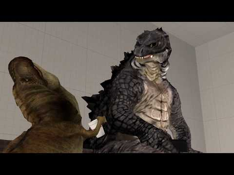 [SFM] Godzilla 2019 and T-Rex and Cell? (FT. DevilArtemis)