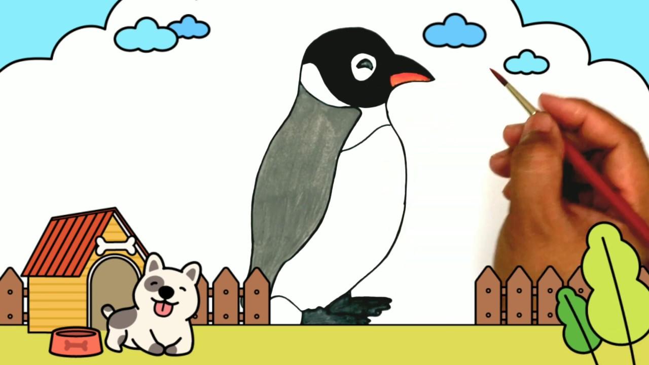 Cara Menggambar Dan Mewarnai Pinguin