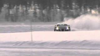 Bugatti Veyron 16.4 in snow test drive Pt. II / Sweden