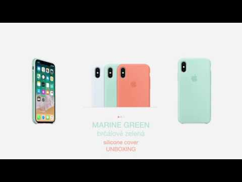 quality design a8c78 fd3dd iPhone X/XS Marine Green (brčálově zelený) silicone case UNBOXING