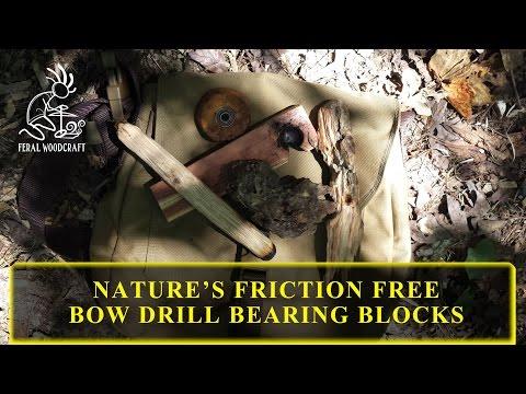 Nature's Friction Free Bow Drill Bearing Blocks
