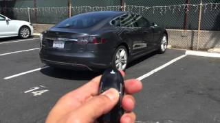 Tesla Model S AutoPilot Demo SUMMON FEATURE