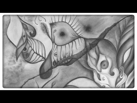 Abstract graphite drawing - Union [Timelapse]