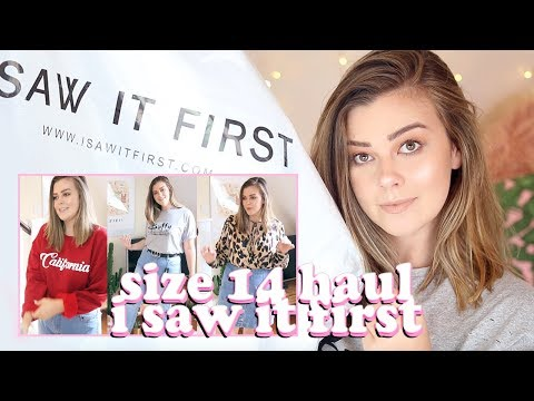 IS 'I SAW IT FIRST' SIZE 14 FRIENDLY? AVERAGE GIRL TRY ON CLOTHING HAUL  LUCY WOOD