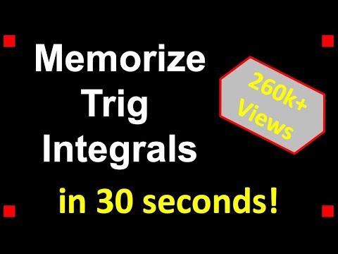 Trick For Memorizing Trig Integrals