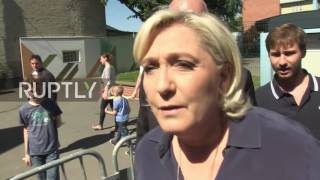 France  Le Pen casts ballot in first round of parliamentary elections