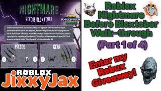 Roblox | Nightmare Before Bloxtober Event Part 1 ✦ Plus Robux Giveaway | JixxyJax