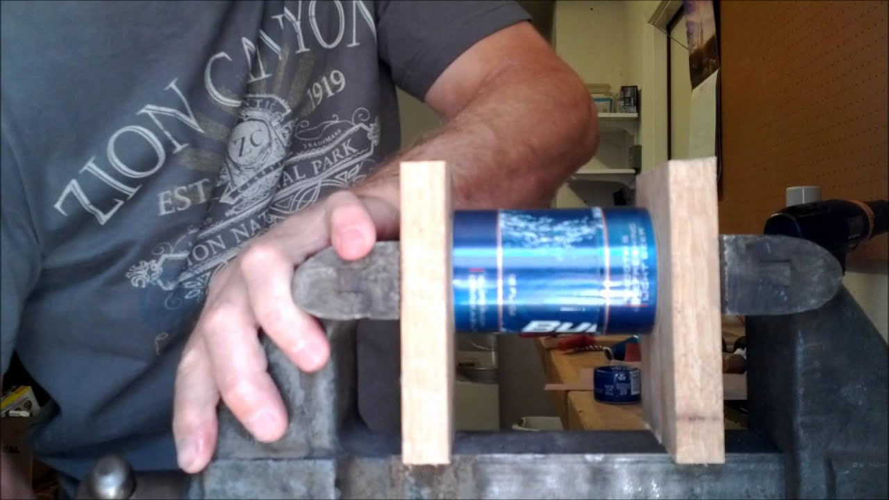 How to make a bud light alcohol stove with a full length crimpwmv