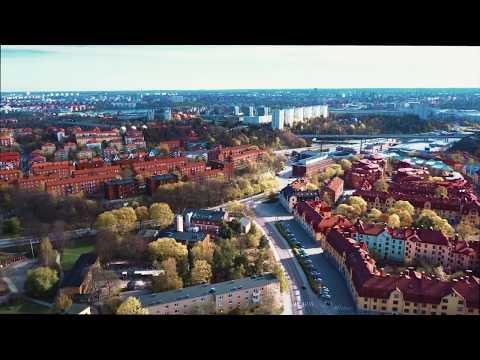Telefonplan drone flight in 4K with DJI Mavic Pro over Stockholm