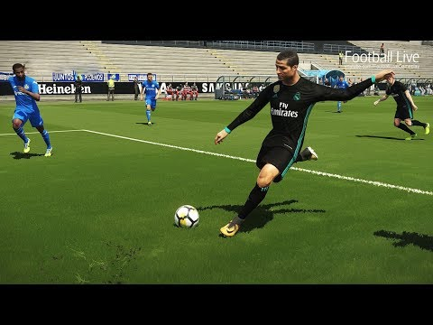 PES 2018 | GETAFE vs REAL MADRID | Cristiano Ronaldo and Gareth Bale amazing | Gameplay PC