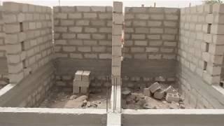 Evolution des travaux du poste de santé du quartier Touba Lansar financé par