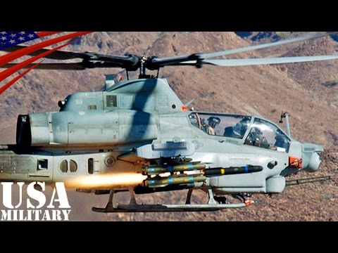 AH-1Wスーパーコブラ(攻撃ヘリ)実弾射撃演習 - AH-1W Super Cobra (Attack Helicopter) Live Fire Exercises