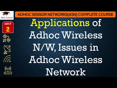 Applications of Adhoc Wireless N/W, Issues in Adhoc Wireless Network - ASN  Lectures