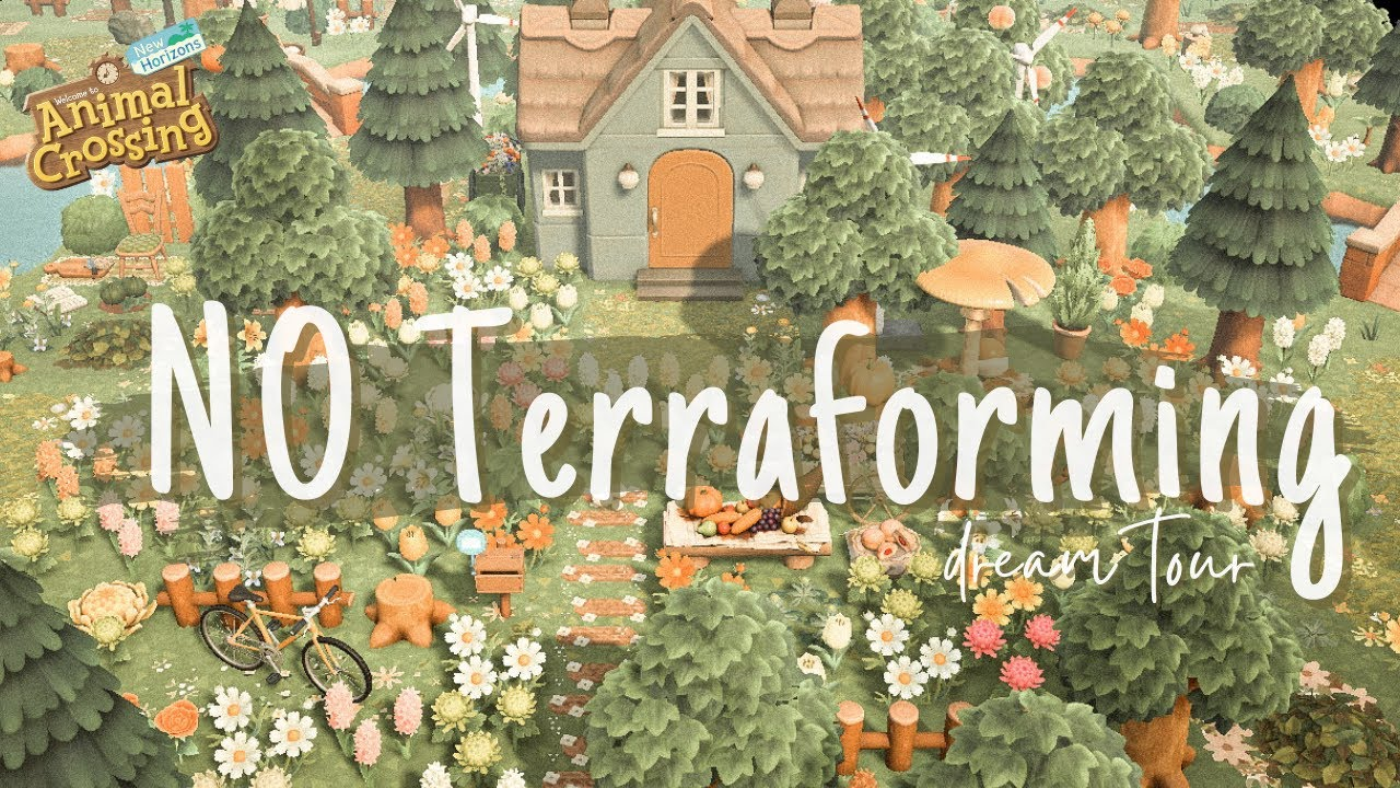 Download Stunning NO TERRAFORMING Spring Island   Everwilde   Animal Crossing New Horizons