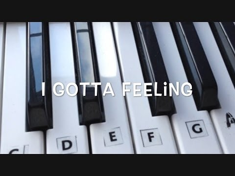 I Gotta Feeling - Keyboard Tutorial for Beginners (Chords Intro)