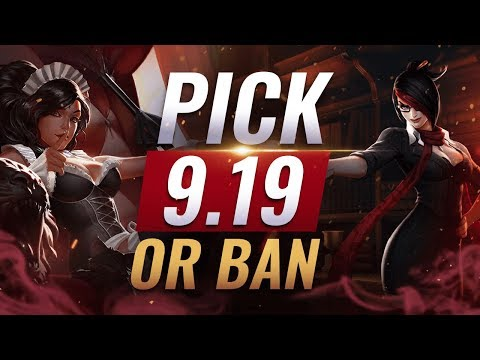 OP Pick or Ban: BEST BUILDS For EVERY Role - League of Legends Patch 9.19