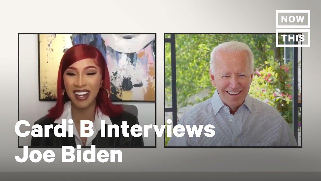 Cardi B Interviews Democratic Candidate Joe Biden | NowThis - YouTube