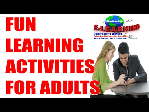 Fun Activities: Fun Learning Activities for Adults