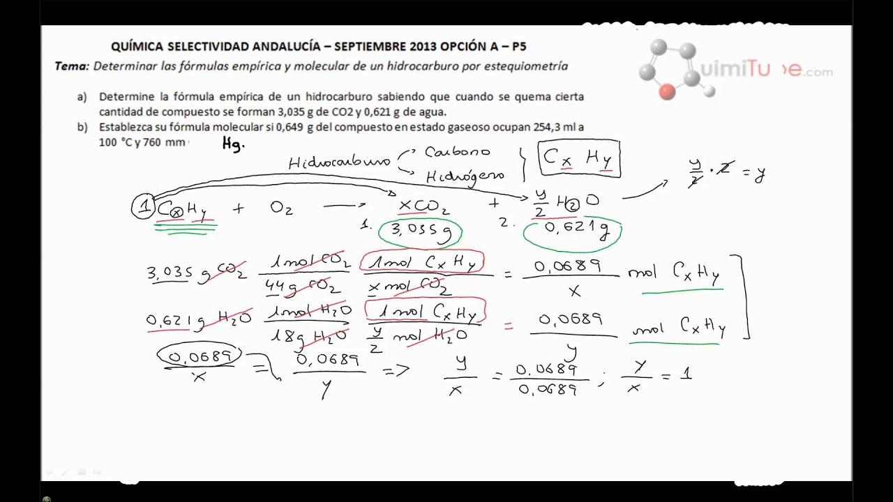 qu mica selectividad andaluc a septiembre 2013 f rmula