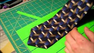 How to make a Duct tape Clip-on tie