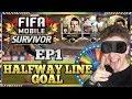 HALFWAY LINE GOAL & BLINDFOLD FULL TEAM DISCARD CHALLENGE! | #FIFAMOBILESURVIVOR vs. STOPDE Ep1