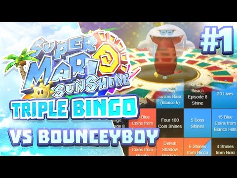 Super Mario Sunshine Triple Bingo vs BounceyBoy #1