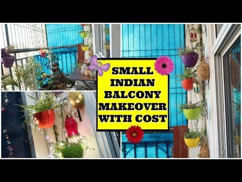 Small Indian Balcony Makeover Idea in Budget | Balcony Garden Tour & Decoration | Indian Mom Studio