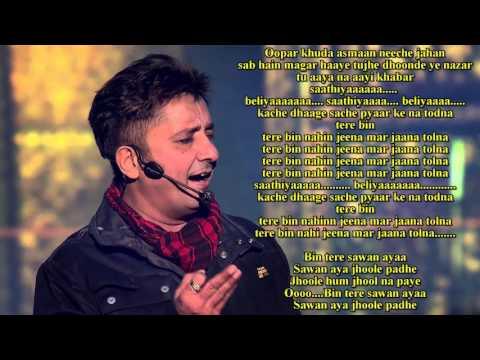 Ooper Khuda Aasman Neeche (KACHCHE DHAAGE) KARAOKE by Sandeep Singh Bajaj