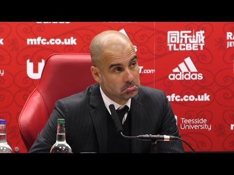 Middlesbrough 2-2 Manchester City - Pep Guardiola Full Post Match Press Conference