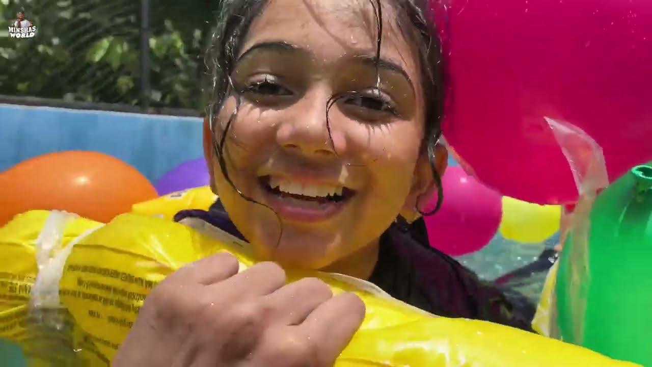 ലക്ഷങ്ങൾ വിലയുള്ള പൂളിൽ | Balloon boat | Minshas world