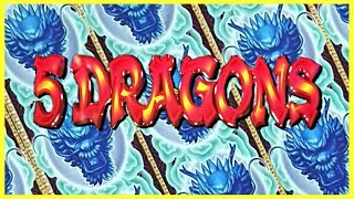 ⛩ GOOD FORTUNE has ARRIVED 🐲🔥 5 DRAGONS is AWESOME!! ✦ EZ Life Slot Jackpots