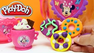 Minnie Mouse Bowtique Tea Playset Disney Junior Mickey Mouse Toys Juego de Té Plastilina