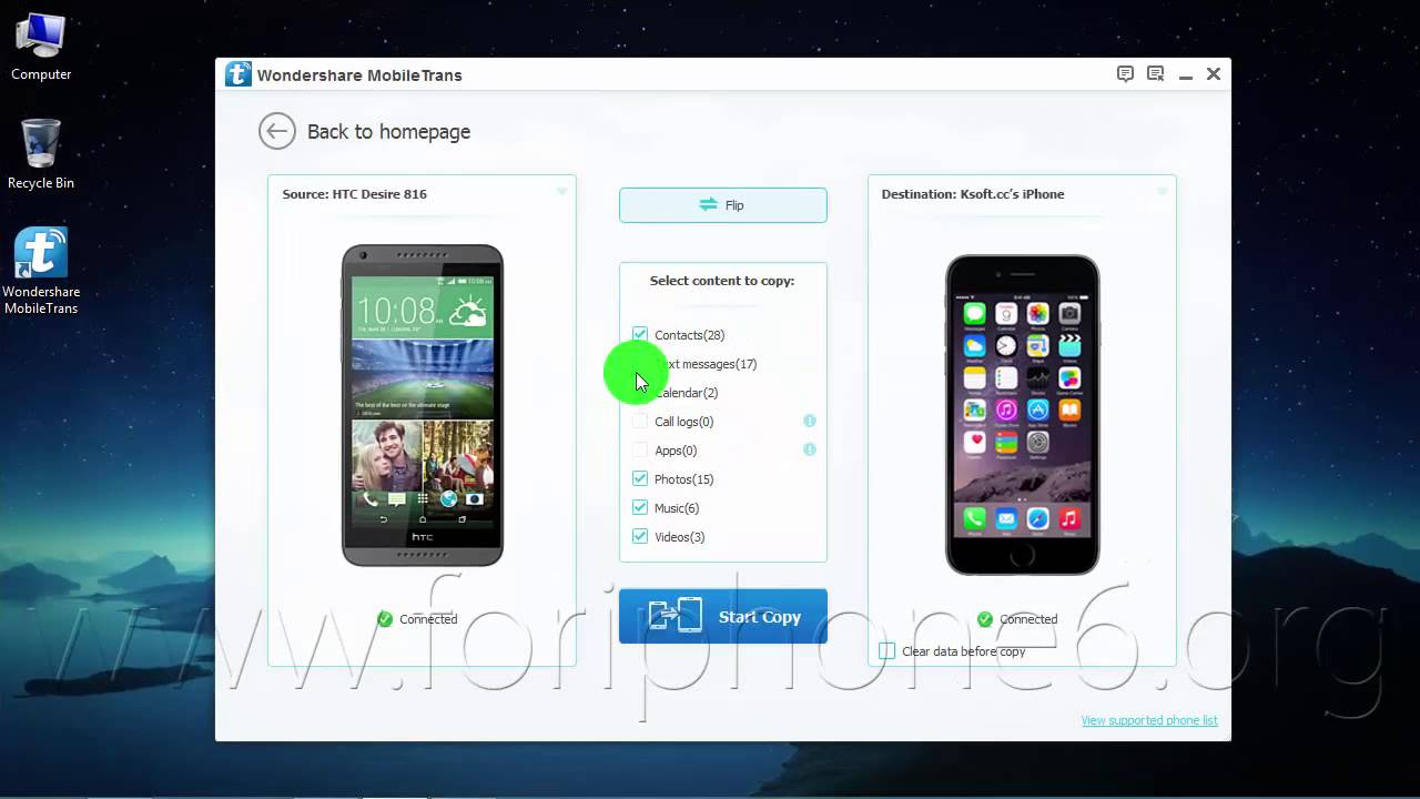 How To Transfer Contacts From Htc Desire 816 To Iphone 6