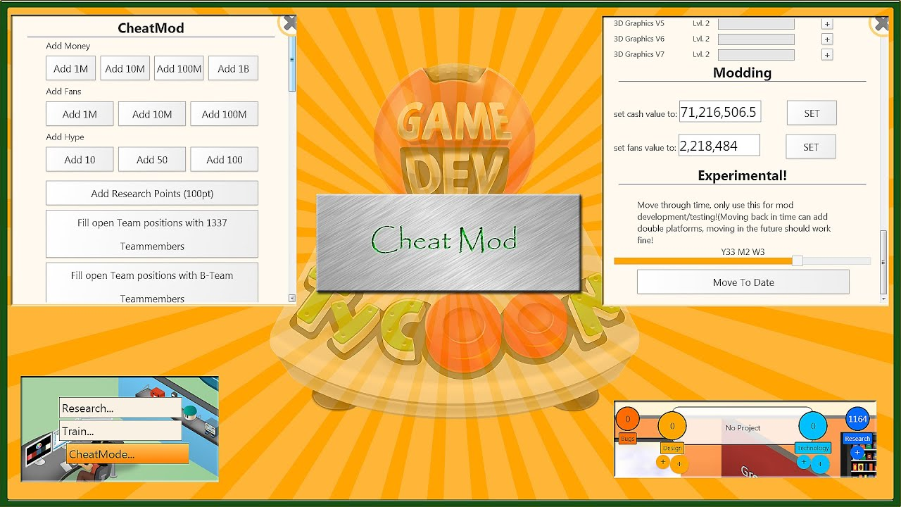 cheat mod game dev tycoon