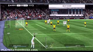 Fifa 11 Ultimate Team Online PS3 Full Match Part 1 Gameplay Full Manual Settings