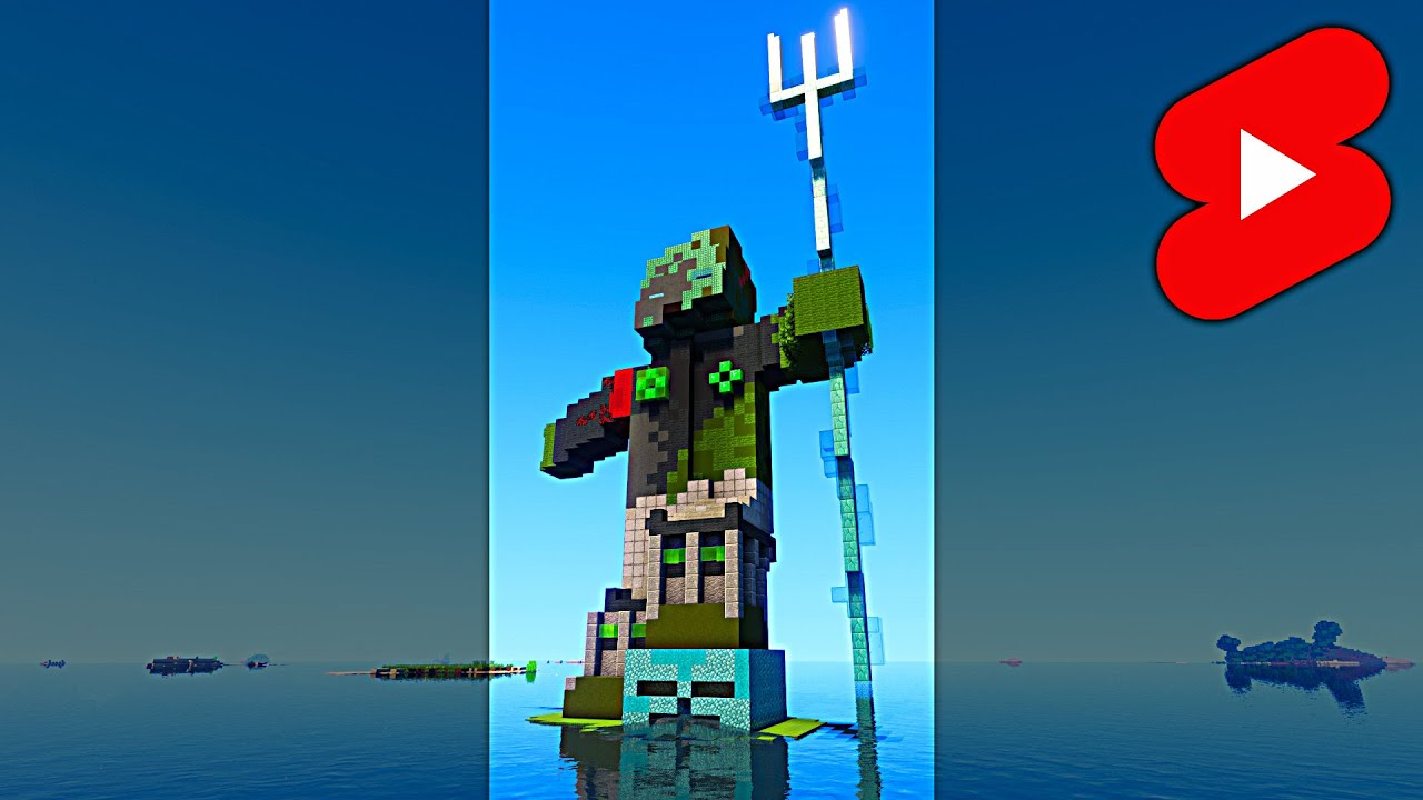 Minecraft DROWNED ZOMBIE HOUSE #Shorts