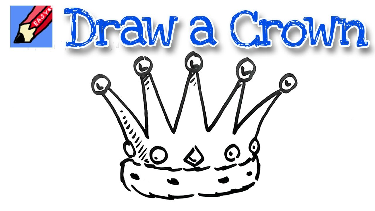 how to draw a crown real easy for kids and beginners youtube