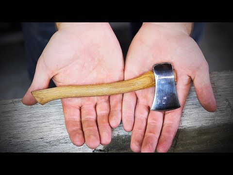 Forging a Tiny Axe with a Tiny Anvil and Hammer