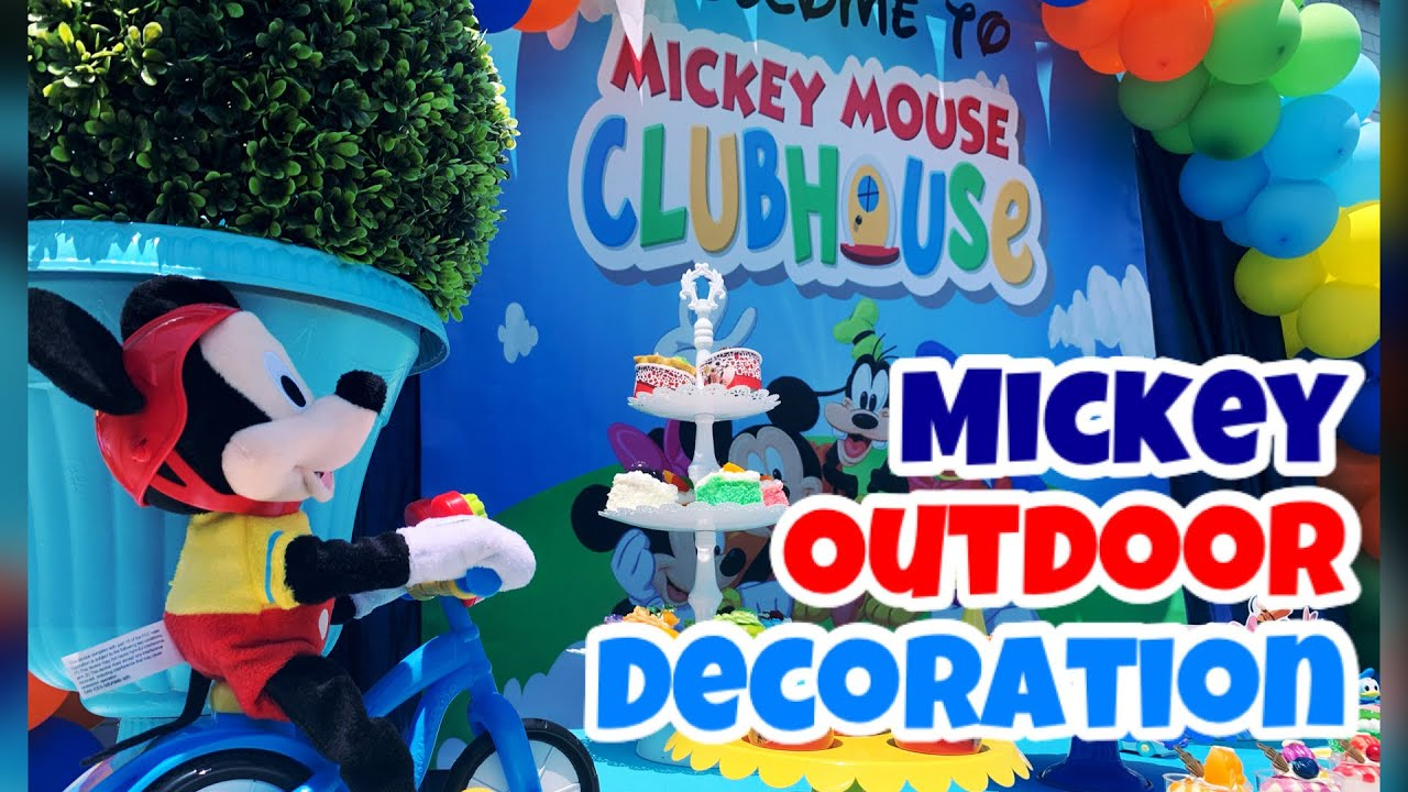 Mickey Mouse Birthday Party Mickey Club House Mickey Party Ideas How To Decorate Kids Party Youtube