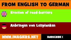 DEUTSCH   ENGLISCH  = Anbringen von Leitplanken