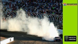 Hamlin's wicked burnout at New Hampshire