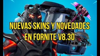 NEW FILTRATED SKINS AND NOTES OF FORTNITE 8.30 PARCHE