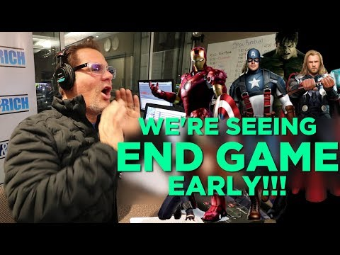 In-Studio Videos - We're Seeing Avengers: End Game Early!!
