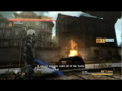 "Metal Gear Rising - LQ-84i ""Bladewolf"" Boss Battle [S Rank] [Revengeance Mode]"