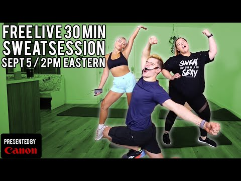 FREE 30 Minute Sweat Session   The Fitness Marshall + Canon