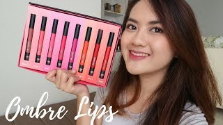 OMBRE LIPS - Maybelline Lip Gradation by Colorsensational | Swatches + Review