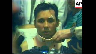 COLOMBIA: AMERICAN AIRLINES PLANE CRASH: SURVIVORS REACTION