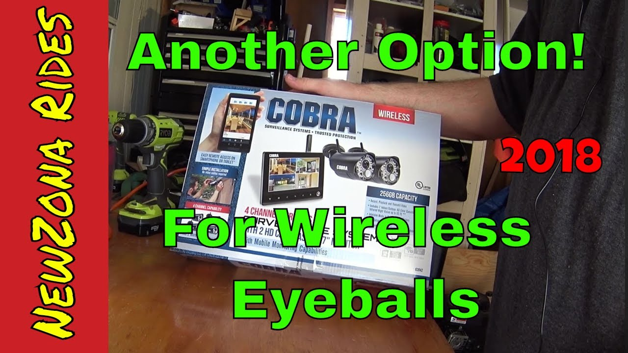 Harbor Freight: Cobra Wireless Security Cameras/ Surveillance System/ 4  Channel/ HD